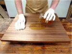 Покрытие дерева маслом и процесс шлифовки!
